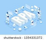isometric concept of rpa ... | Shutterstock .eps vector #1354331372