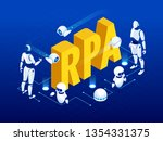 isometric concept of rpa ...   Shutterstock .eps vector #1354331375