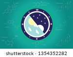 the circadian rhythms are... | Shutterstock .eps vector #1354352282