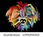 speed painting of a pet on... | Shutterstock . vector #1354354202