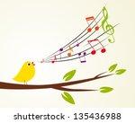 singing bird on a branch ...