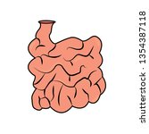 abstract human small intestine | Shutterstock .eps vector #1354387118