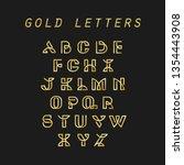 gold letters alphabet abc   Shutterstock .eps vector #1354443908