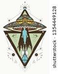 mystical symbol paranormal... | Shutterstock .eps vector #1354449128