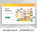 modern flat design illustration ... | Shutterstock .eps vector #1354450115
