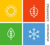 seasons flat vector icons.... | Shutterstock .eps vector #1354459562