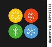 seasons flat vector icons.... | Shutterstock .eps vector #1354459568