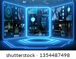 abstract data room with... | Shutterstock . vector #1354487498