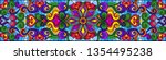 illustration in stained glass... | Shutterstock .eps vector #1354495238