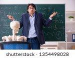 young male math teacher and... | Shutterstock . vector #1354498028