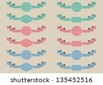 set of vintage labels with... | Shutterstock .eps vector #135452516