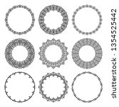 vector set of round contour... | Shutterstock .eps vector #1354525442