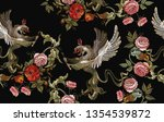 embroidery griffins and red... | Shutterstock .eps vector #1354539872