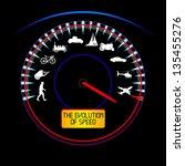 the evolution of speed | Shutterstock .eps vector #135455276