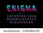 impossible shape font design ... | Shutterstock .eps vector #1354564145