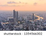 high view of the city in sunset ...   Shutterstock . vector #1354566302