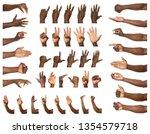 afro american man showing... | Shutterstock . vector #1354579718