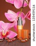 women's perfume in beautiful... | Shutterstock . vector #135459116