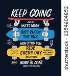 skate board vector... | Shutterstock .eps vector #1354604852