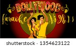 bollywood party songs.wedding... | Shutterstock .eps vector #1354623122