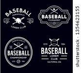 set of vintage baseball... | Shutterstock .eps vector #1354623155
