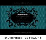 vintage frame  baroque stile | Shutterstock .eps vector #135463745