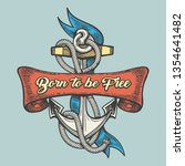 anchor with ribbons and wording ... | Shutterstock .eps vector #1354641482