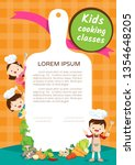 kids cooking class certificate... | Shutterstock .eps vector #1354648205