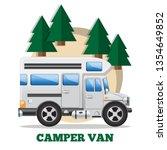 camper van. side view. isolated ... | Shutterstock .eps vector #1354649852