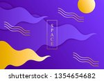 abstract colored background.... | Shutterstock .eps vector #1354654682