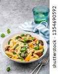 pasta salad with grilled... | Shutterstock . vector #1354690592