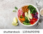 lunch bowl salad with avocado ... | Shutterstock . vector #1354690598