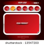 website red stickers template | Shutterstock .eps vector #13547203