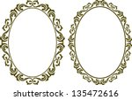 oval decorative border | Shutterstock .eps vector #135472616