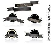 vector illustration black seals ... | Shutterstock .eps vector #135472838
