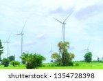 wind generators turbines...   Shutterstock . vector #1354728398