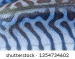 Stock photo coloring of skin mackerel fish close up 1354734602