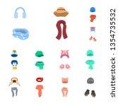 vector design of headwear  and... | Shutterstock .eps vector #1354735532