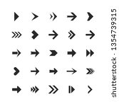 arrows set. arrow icons down... | Shutterstock .eps vector #1354739315