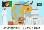 welcome to afghanistan postcard.... | Shutterstock . vector #1354741835
