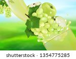 juice grape and apple with... | Shutterstock .eps vector #1354775285