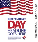 independence day template. eps... | Shutterstock .eps vector #135477812