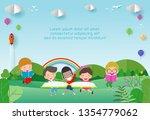 back to school  kids school ...   Shutterstock .eps vector #1354779062