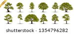 collection  realistic  trees... | Shutterstock .eps vector #1354796282