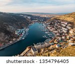 aerial view of balaklava...   Shutterstock . vector #1354796405