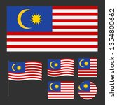 flag of malaysia with various... | Shutterstock .eps vector #1354800662