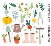 garden tools vector gardening... | Shutterstock .eps vector #1354818398