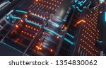 abstract technology background  ... | Shutterstock . vector #1354830062