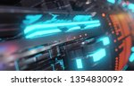 abstract technology background  ... | Shutterstock . vector #1354830092