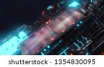 abstract technology background  ... | Shutterstock . vector #1354830095